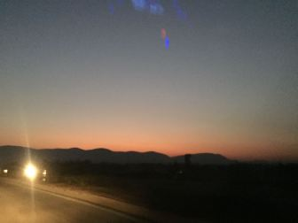 Dusk towards Jharkhand