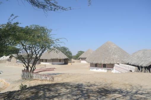 Sham-E-Sarhad mud huts