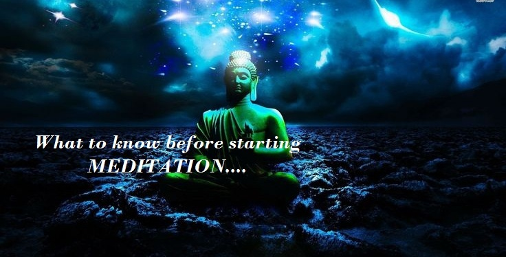 Before starting Meditation